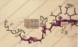 Fonds Candilis, Georges (1913-1995). 1961-1981. ZUP du Mirail, Toulouse (Avec A. Josic et S. Woods) : plan de masse. (Objet CANGE-F-03. Dossier 236 Ifa 41/5. Doc. NR_23-05-05_02). DAF/Cité de l´architecture et du patrimonie/ Archives d´architecture du XXe siècle/
